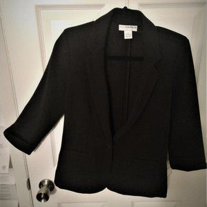 Sag Harbor Black Blazer - Silver Button - Size S
